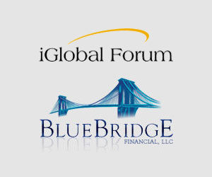 iGlobal Forum and BLue Bridge logos